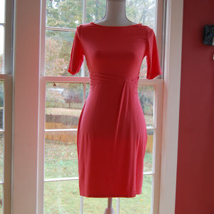 {Anne Taylor Petite} Pink Rouched Waist Dress